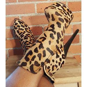 London Trash Monsta Leopard Ankle Boot